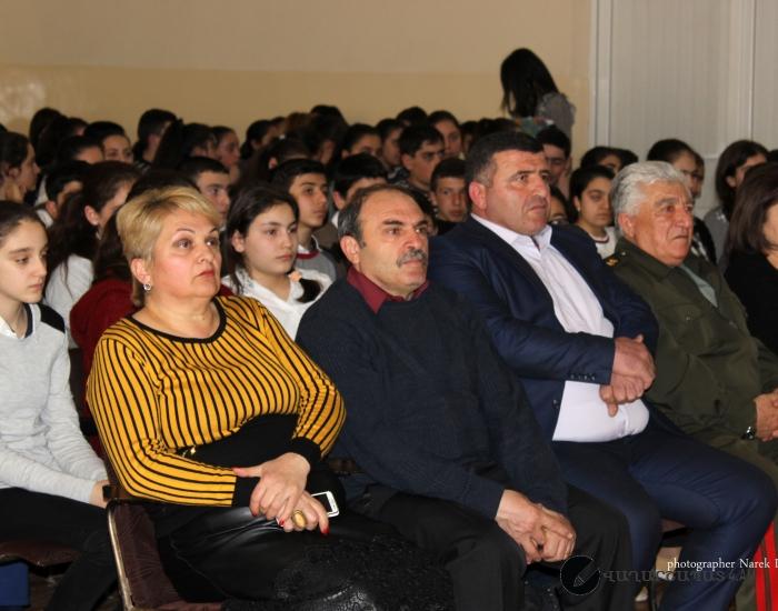 2017թ.  մարտի 15-ին Կապանի Ալ. Շիրվանզադեի անվան պետական դրամատիկական թատրոնը դպրոցի հանդիսությունների դահլիճում հանդես եկավ ներկայացմամբ