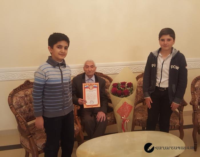 Այցելություն 101ամյա Գուրգեն Գեղամի Ճուղուրյանին