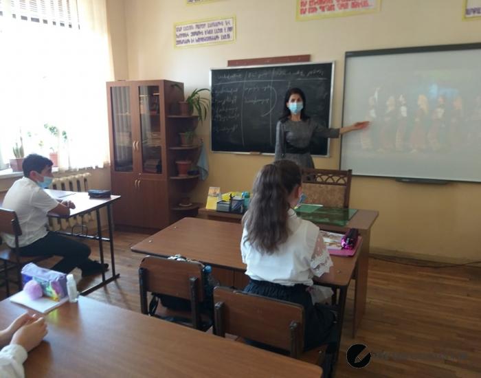 Ազգային երգ-պարի դաս 7Ա դասարանում